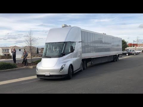 Tesla Semi Taking Off