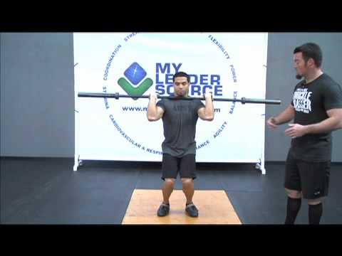 How to do a Split Jerk - Weightlifting Exercise Image 1