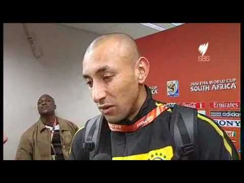 English interview with Brazil's Heurelho Gomes after the win over Chile