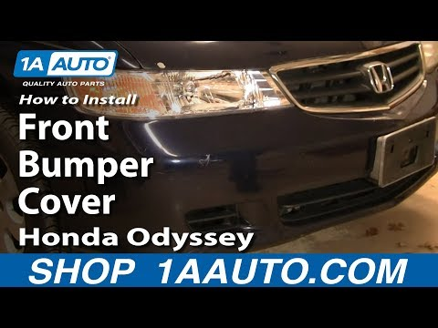 How To Install Remove Replace Front Bumper Cover Honda Odyssey 99-04 1AAuto.com