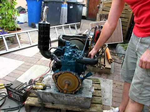 kubota 2 cylinder engine diesel start/ stop