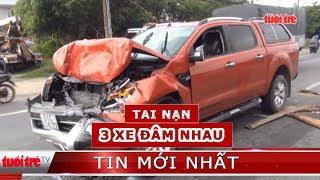 ⚡ Tin mới nhất   Va chạm giao thông liên hoàn, tài xế và phụ xe kẹt trong cabin