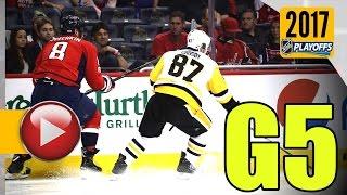 Pittsburgh Penguins vs Washington Capitals. 2017 NHL Playoffs. Round 2. Game 5. 05.06.2017 (HD)