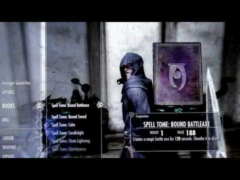 Lets Play Skyrim Best Spell Books and were to get them