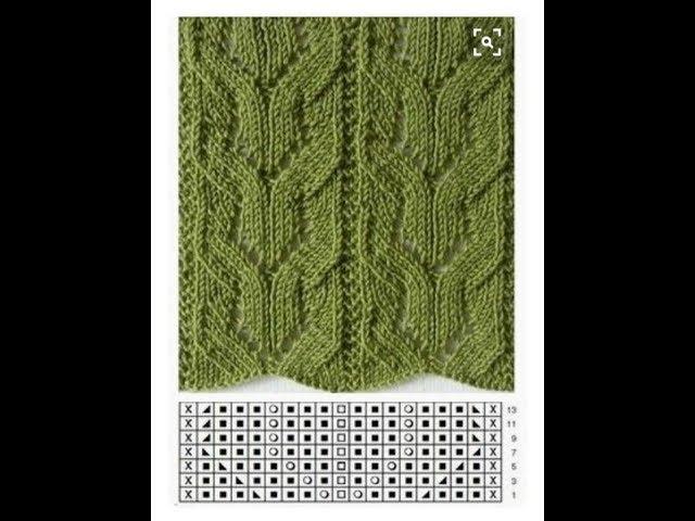 Вязание спицами. Ажурный узор № 36
