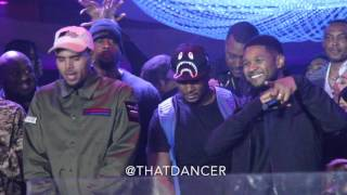 Chris Brown brings out Usher in Miami (Cafe Iguana Pines)