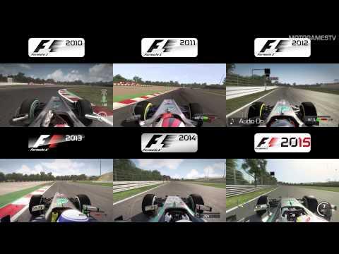 F1 2010 vs 2011 vs 2012 vs 2013 vs 2014 vs 2015 - Suzuka Comparison [4k]