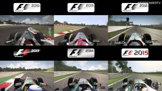 F1 2010 vs 2011 vs 2012 vs 2013 vs 2014 vs 2015 - Suzuka Comparison [4k]