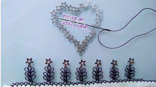 Pullu iğne oyaları kolay,gösterişli,anlaşılabilir👀👍👍👍/star sequin needlework pattern model