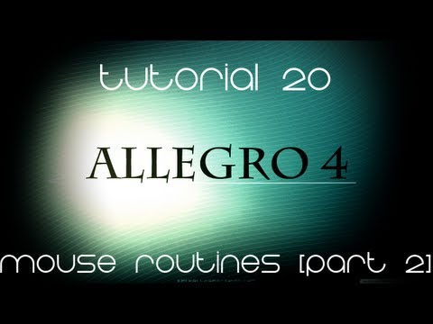 C++ AllegroHD Made Easy Tutorial 20 - Mouse Routines [Part 2]