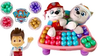 Paw Patrol Everest Marshall Eat Colorful Rainbow Gumballs - Best Learning Colors Video