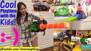 Children's TOY GUNS, Toy Cars, Toy Trucks, Police Car Toy, Construction Trucks, Bouncers and More!