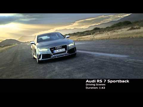 2014 Audi RS 7 Sportback revealed - raw driving and static footage