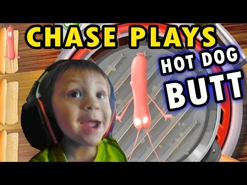 """Chase plays """"Hot Dog Butt"""" + 2 Player Flappy Bird (2 Yr. Old Face Cam)"""