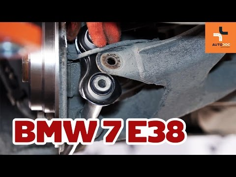 How to replace rear suspension arm BMW 7 E38 TUTORIAL   AUTODOC