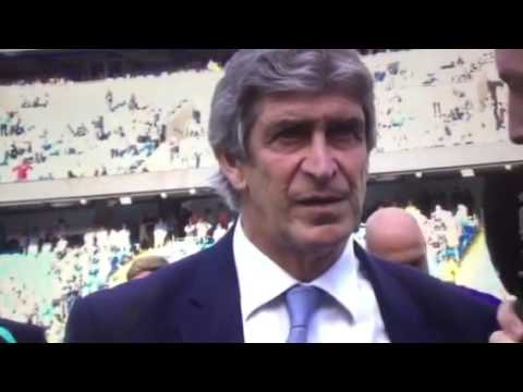 Pellegrini's Man City goodbye speech