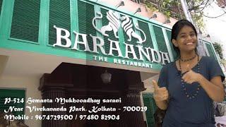 Indian Food Tour in Kolkata || Baraanda Restaurant, Hemanta Mukhopadhyay sarani, Kolkata || Bengali