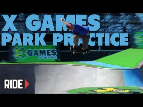 X Games Brazil 2013 -- Park Practice with Pedro Barros, David Gonzalez, and More!