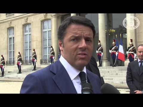 Matteo Renzi a Parigi da Hollande e Leader Socialisti - Video