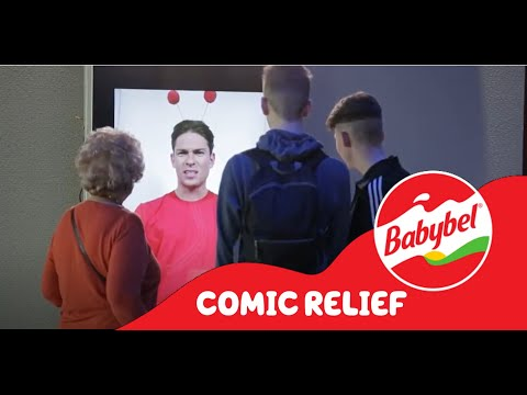 Joey Essex helps Mini Babybel raise money for Red Nose Day