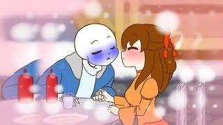 Sans and Frisk go on a date?..... (Funny Undertale Comic Dubs) Sans x Frisk