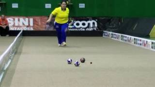 Carol Martins from Brazil. Pan American Bocce Championship on August 27, 2016