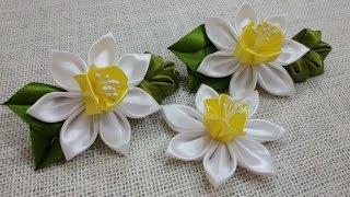 Download D.I.Y. Satin Kanzashi Daffodils Tutorial   MyInDulzens 3Gp Mp4