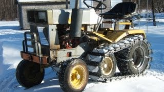 Cub Cadet 169 - 1974 with homemade track.MPG
