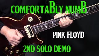 "how to play ""Comfortably Numb"" second guitar solo by Pink Floyd 