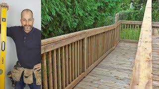 How To Build A Deck DIY |  Part 6 Railings