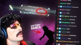 DrDisrespect Gets 5000$ Donation After PUBG Win + Victory Dance