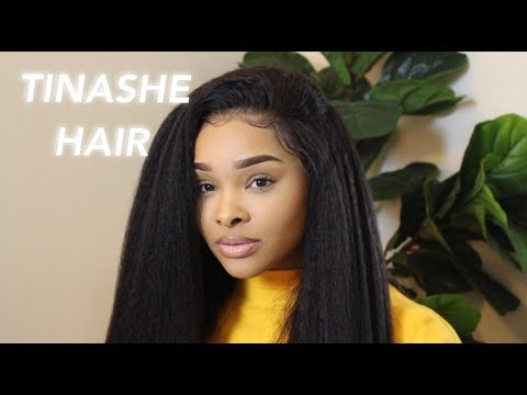 DIFFERENT WAYS TO STYLE KINKY STRAIGHT HAIR | Tinashe Hair review