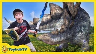 Giant Life Size Dinosaur Showdown at Renaissance Festival Theme Park