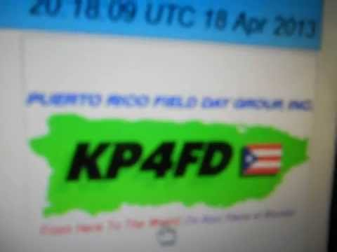 KP4FD-World Amateur Radio Day-PUERTO RICO-20:21 utc- 18-Apr-2013 - 20 meters band