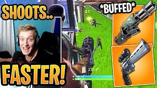 Tfue Shows New *BUFFED* Minigun & Scoped Revolver Strategy! *OVERPOWERED* - Fortnite Moments