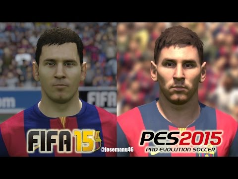 FIFA 15 vs PES 2015 FC BARCELONA Face Comparison