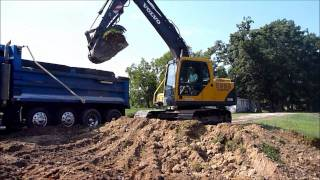 Volvo 140 Excavator Loading Dirt