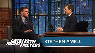 Arrow's Stephen Amell's Terrible Golden Globes Experience - Late Night with Seth Meyers