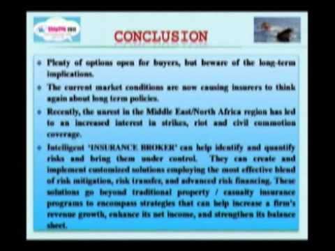 'Post Recession Outlook of Energy & Marine Insurance Industry'.    Part - 3