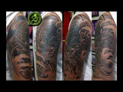 Tattoo Dragon มังกร สักลายมังกรเงาดำ ช่างเก๋