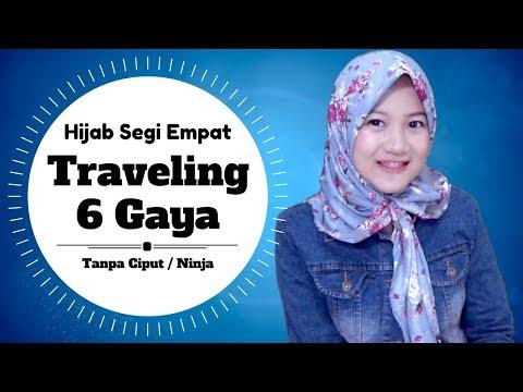 6 Gaya Hijab Segi Empat Untuk TRAVELING Mudah Untuk Copot & Pasang #NMY Hijab Tutorials
