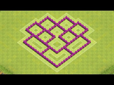 Clash of Clans Town Hall 6 Defense (CoC TH6) BEST Hybrid Base Layout Defense Strategy