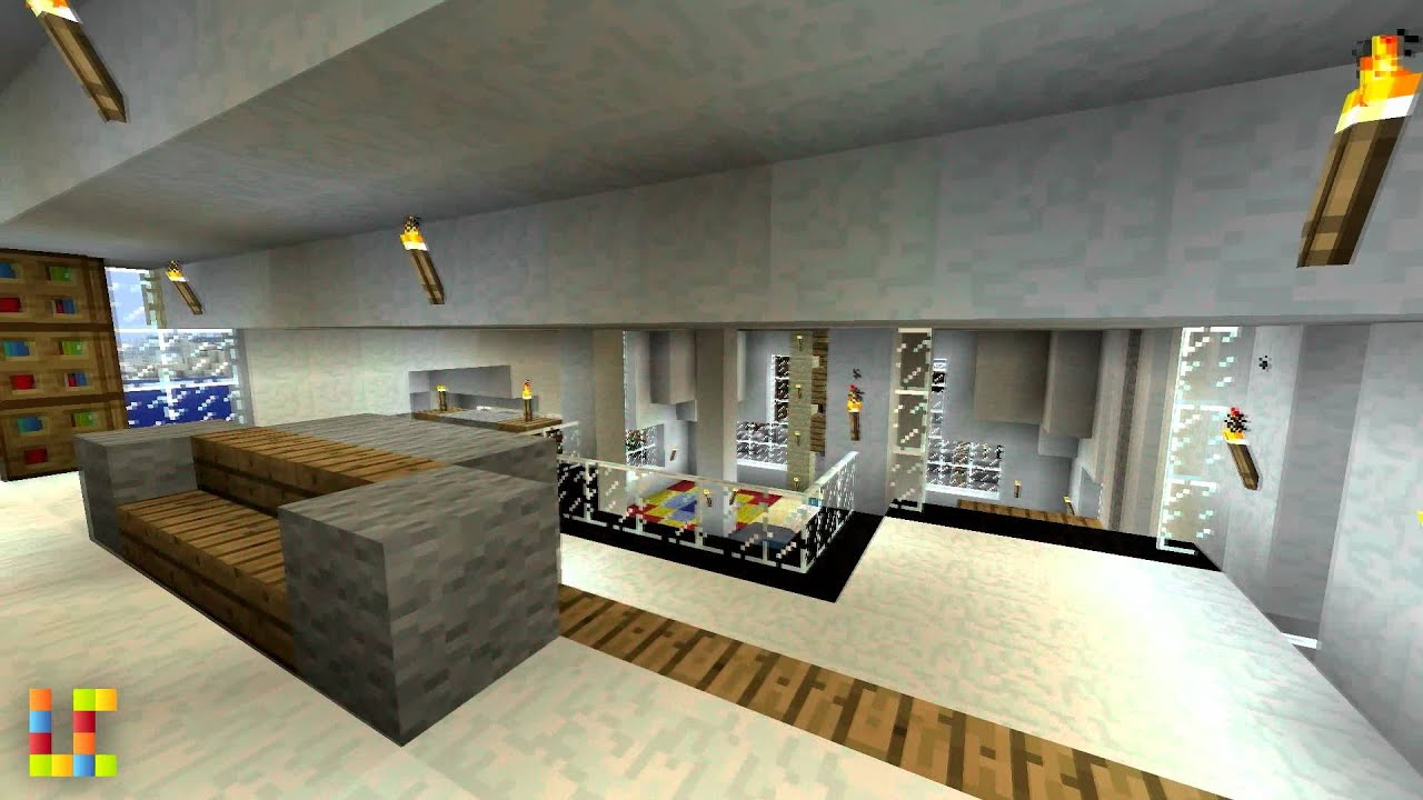 Deco salon moderne minecraft avec des id es for Decoration maison moderne youtube