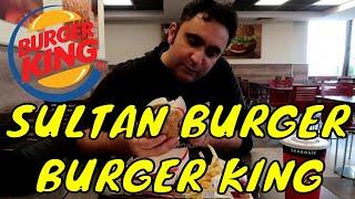Burger Kings Sultan Burger (Sujuk Patty and Humus)