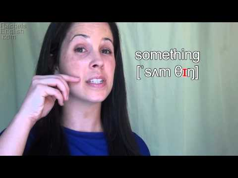How to Pronounce the Word SOMETHING – American English