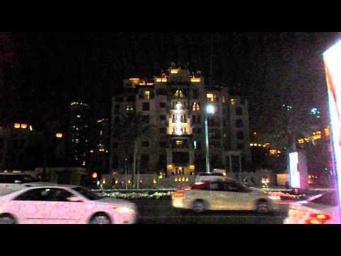 Dubai Festival of Lights (Day 2) stickman on the facade from afar