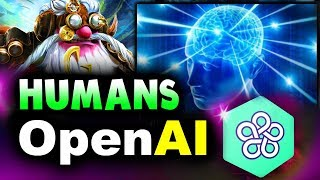 OpenAI vs HUMANS - FIRST WIN EVER! - HUMAN vs NEW BOT ARENA DOTA 2