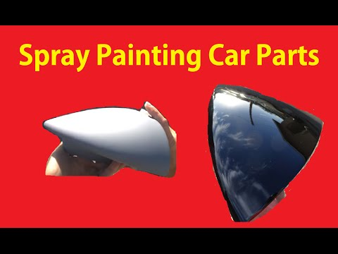 Prep & Spray Paint Car Parts GTA Mirror Easy DIY Cars Video ~BTS  #4