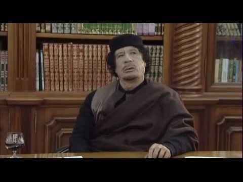 Gaddafi Interview: 'how he would want to be remembered when he dies'