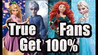 Guess The Song!! -?DREAMWORKS?DISNEY?PIXAR? - True Fans Get 100%!!
